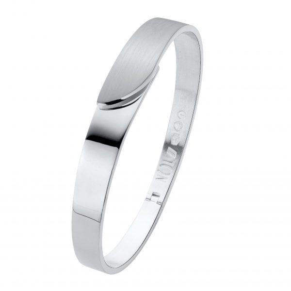 NOL Sieraden zilveren bangle armband Nederlands Ambacht