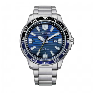 Citizen Eco Drive horloge 10ATM met blauwe wijzerplaat
