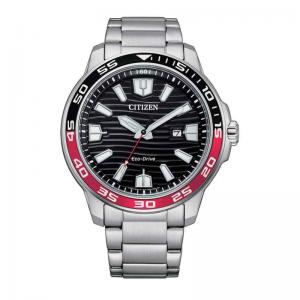 Citizen Eco Drive horloge 10ATM met zwarte wijzerplaat