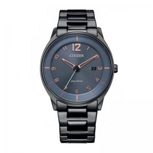 Citizen Eco Drive horloge met blauwgrijze wijzerplaat