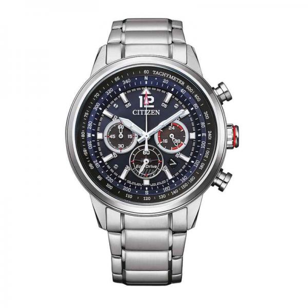 Citizen Eco Drive Chrono horloge met blauwe wijzerplaat