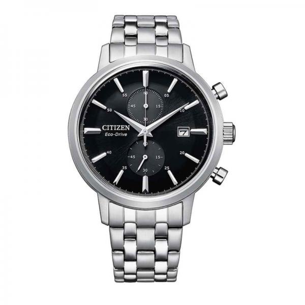 Citizen Eco Drive horloge met zwarte wijzerplaat
