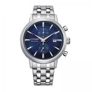 Citizen Eco Drive horloge met blauwe wijzerplaat